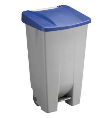 Mülleimer 120,0 l grau, blau H24055-34