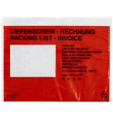 """Lieferscheintaschen Classic plus C5 """"LIEFERSCHEIN - RECHNUNG"""" selbstklebend 250 Stück 2FVDO350203"""