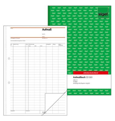 Formularbuch SD069 Aufmaßbuch SD069