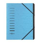Ordnungsmappe 7 Fächer blau 40058-18