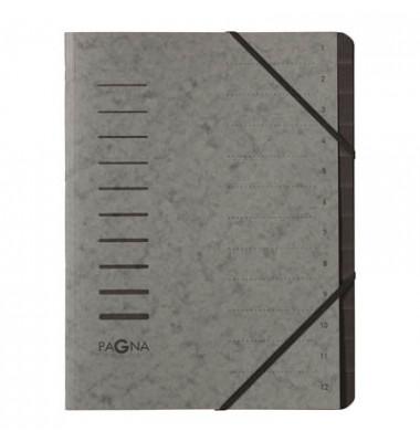 Ordnungsmappe 12 Fächer grau 40059-06