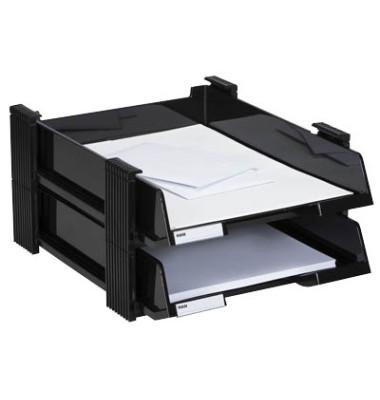 Briefablageset 10320 Duett A4 / C4 schwarz 2 Körbe
