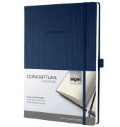 Notizbuch Conceptum CO646 blau A4 kariert 97 Blatt 194 Seiten Hardcover