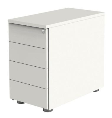 Standcontainer Move 4190 Holz weiß, 4 normale Schubladen, abschließbar