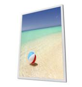 Plakat-Klapprahmen KRA4G25 weiß A4 mit Antireflexfolie