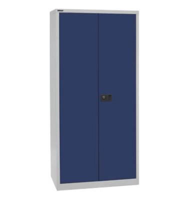 Akten-/Garderobenschrank Universal HC782S4G505, Stahl abschließbar, 5 OH, 91,4 x 195 x 50 cm, blau/lichtgrau