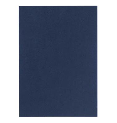 Umschlagkarton UMBR300-DBL A4 Karton 300 g/m² dunkelblau Lederstruktur 100 Stück