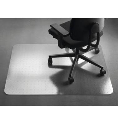 Bodenschutzmatte Perfect 91,5 x 122 cm Form O für Teppichböden transparent PET
