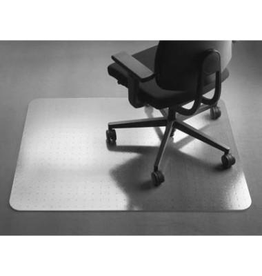 Bodenschutzmatte Perfect 115 x 135 cm Form O für Teppichböden transparent PET