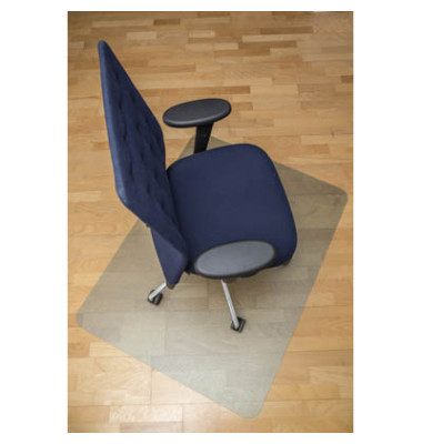 Bodenschutzmatte Perfect 110 x 120 cm Form O für Hartböden transparent PET