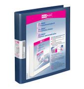 10 Präsentationsringbücher 4-Ringe blau 4143156