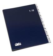 Pultordner 44198 A4 1-12 / Jan-Dez blau 12-teilig