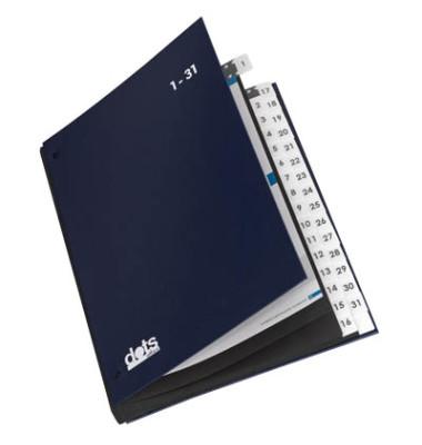 Pultordner 44200 A4 1-31 blau 32-teilig