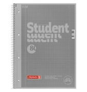 Collegeblock Student Colour Code A4 kariert perforiert gelocht mit Doppelrand silber 80 Blatt 5 Stück