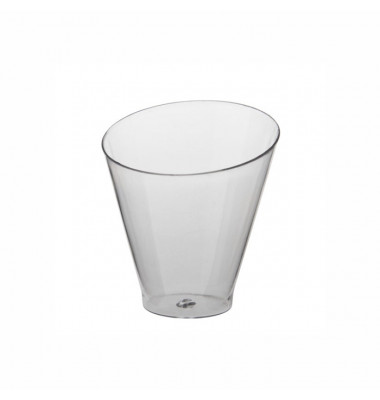 "25 Fingerfood - Becher, PS rund 70 ml Ø 6 cm · 6,4 cm glasklar ""Diagonal"" 82163"