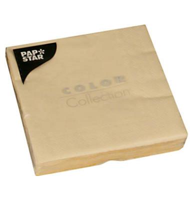 """20 Servietten """"Color Collection"""" creme 14276"""