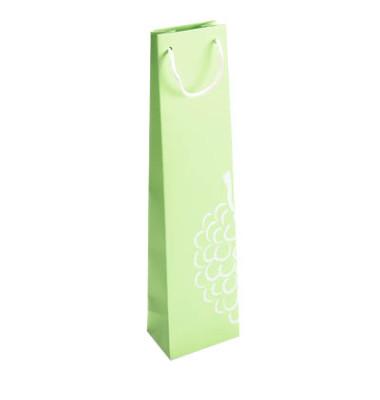 25 Flaschenbeutel grün mit Aufdruck 1FBBB010023