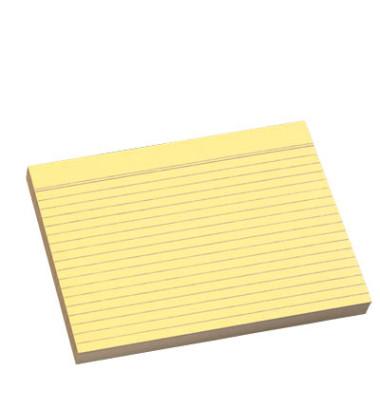 Karteikarten A4 liniert 190g gelb 100 Stück