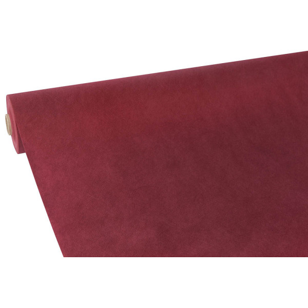 papstar tischdecke stoff hnlich vlies soft selection 40 m x 0 9 m bordeaux auf rolle 84953