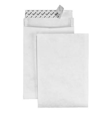 Faltentaschen Expander E4 ohne Fenster 50mm Falte haftklebend weiß 20 Stück Tyvek