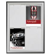 Plakat-Klapprahmen Double Paperboard schwarz/silber 9x A4 mit Antireflexfolie