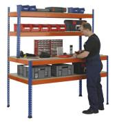 Werkbank blau, orange 18000-A2
