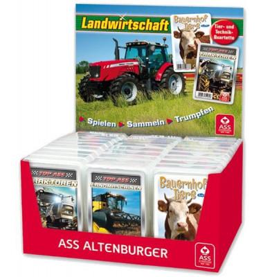 Spielkarten Quartett Landwirtschaft verschiedene Motive Kunststoffetui