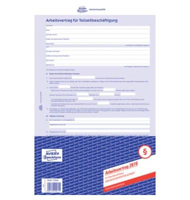 Zweckform Zweckform 2878 Sd 2fach Arbeitsvertrag Teilzeit A4
