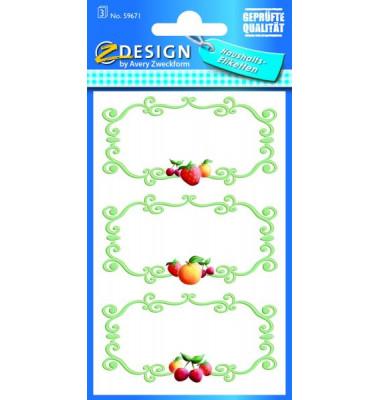59671 Einmachetikett Designrahmen