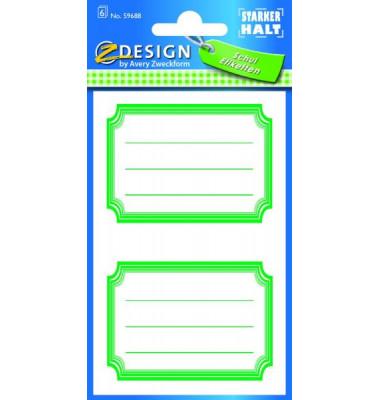 59688 Buchschild Rahmen grün