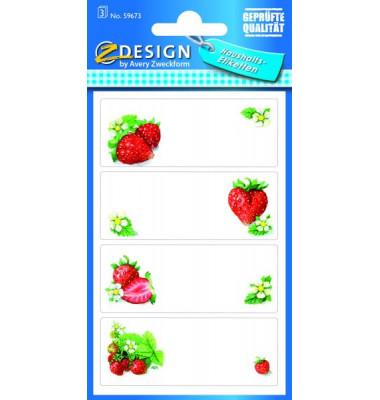 59673 Einmachetikett Erdbeere