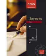 ELCO 71312.10 James Velin Briefblock A5 40Bl unlin. weiß