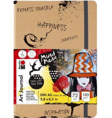 MARABU 1612 00 100 Skizzenbuch Art Journal A5