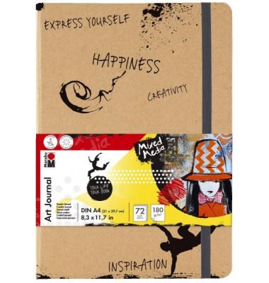 Skizzenbuch Art Journal 16120 000 00 101, A4, 72 Blatt
