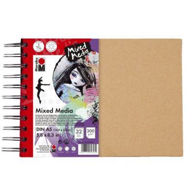 Skizzenbuch Mixed Media 16120 000 00 200, A5, 32 Blatt