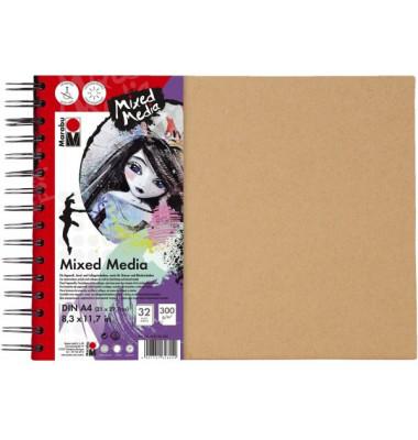 Skizzenbuch Mixed Media 16120 000 00 202, A4, 32 Blatt