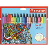 STABILO 6830-7 Pen 68 Faserschreiber 30ST sortiert