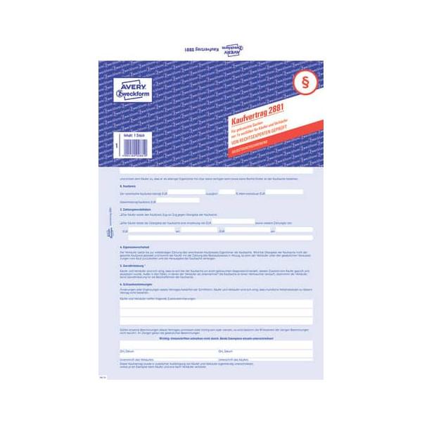 Zweckform 2881 SD 2fach Kaufvertrag allgemein A4