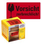 """""""""""""""7211 Warnetiketten """"""""""""""""Vorsicht zerbrechlich!"""""""""""""""" - 200 Stück im Spender"""""""""""""""