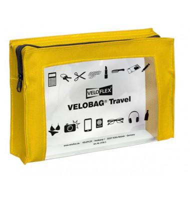 Reißverschlusstasche VELOCOLOR® Travel, PVC, gelb, A5, 230 x 160 mm