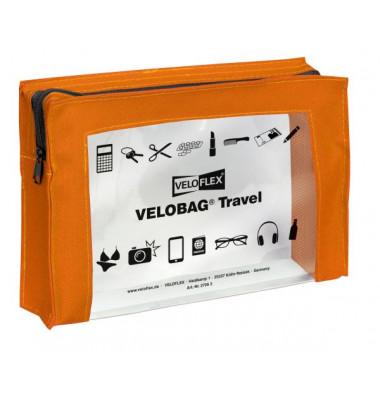 Reißverschlusstasche VELOCOLOR® Travel, PVC, orange, A5, 230 x 160 mm