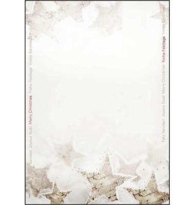Weihnachtspapier Christmas Timber A4 25 Blatt DP250
