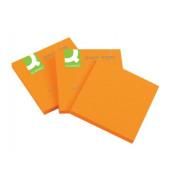 Q-CONNECT KF10517 76x76 mm Haftnotizblock neon orange