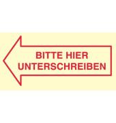 Haftnotiz 70 x 35 mm (B x H) Bitte hier unterschreiben gelb 50 Bl. 3 Block/Pack.