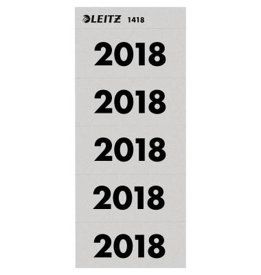 Jahreszahlen 2018 grau 60x25,5mm selbstklebend 100 Stück