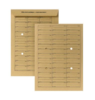 Hausposttaschen B4 250 x 353 mm (B x H) 110g/m² Papier braun