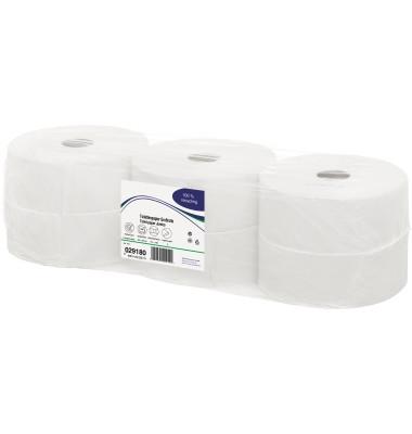 Toilettenpapier 029180 Jumborolle 2-lagig 1100 Einzelblatt