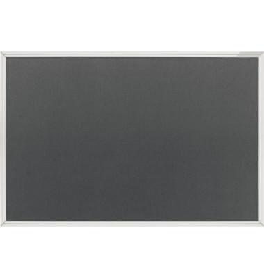 Pinnwand 1490001, 90x60cm, Textil, Aluminiumrahmen, grau