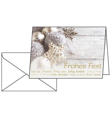 Weihnachtskarten Christmas Feeling A6 25 Stück inkl. weißen Umschlägen DS034