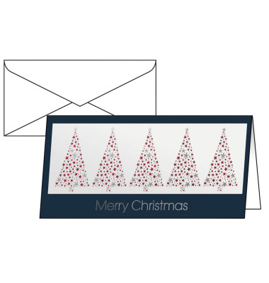 Weihnachtskarten Business.Weihnachtskarten Business Greetings Din Lang 10 Stück Inkl Weißen Umschlägen Ds032